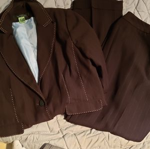 Chocolate brown suit